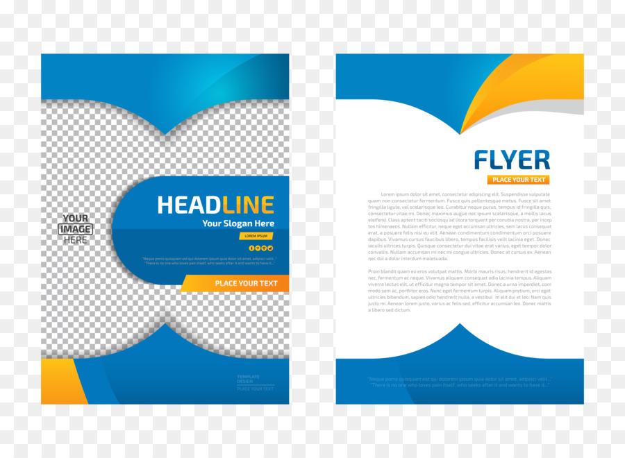 Flyer Template - Vector blue flyer design png download - 6250*4583 ...