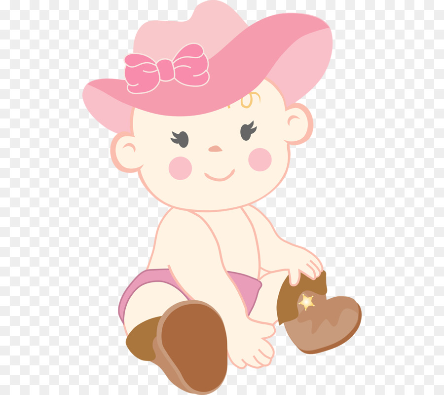 Infant Cowboy Western Baby Shower Clip Art   A Child With A Hat