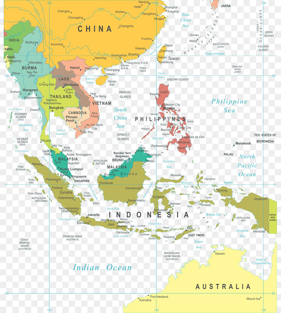 Southeast asia the world factbook world map geography middle east southeast asia the world factbook world map geography middle east map gumiabroncs Gallery