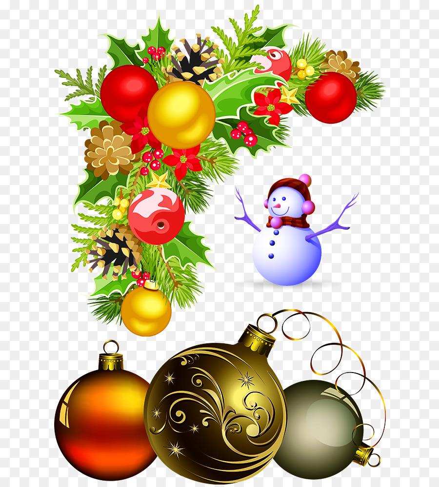 Christmas decoration Christmas ornament Clip art - Christmas wreath ...