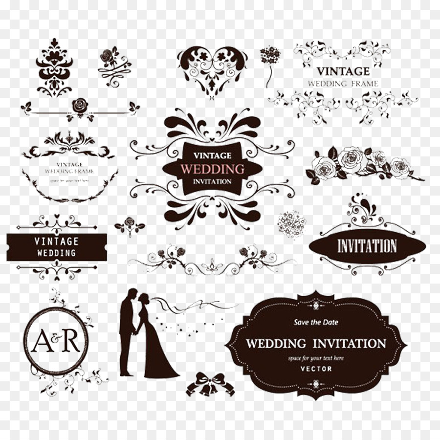 Wedding invitation Ornament Decorative arts - European-style wedding ...