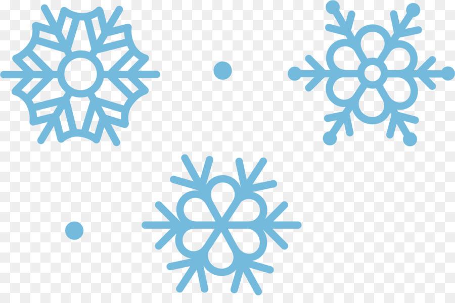 Copo de nieve, libre de Regalías Ilustración - Cielo azul de nieve ...