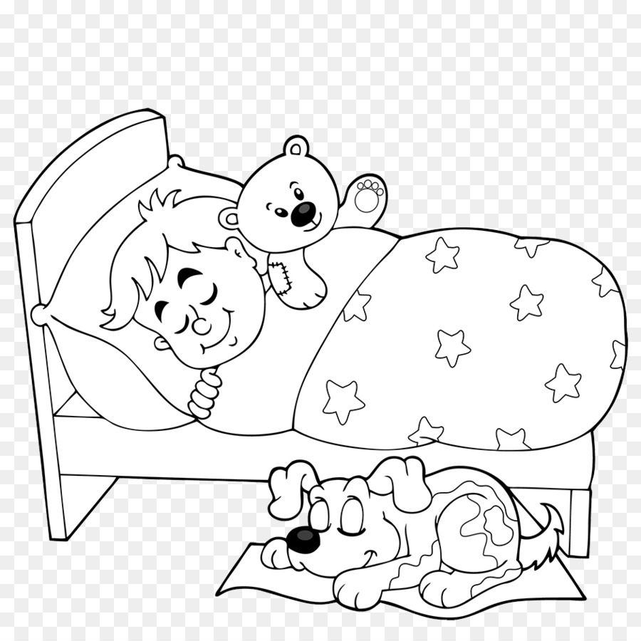 Dogs In Bed Cartoon