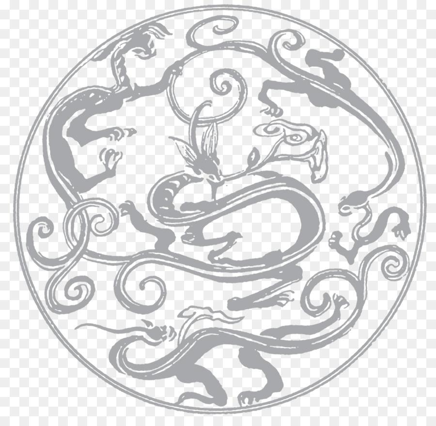China Plantilla De Adobe Illustrator - Dragón patrón decorativo ...