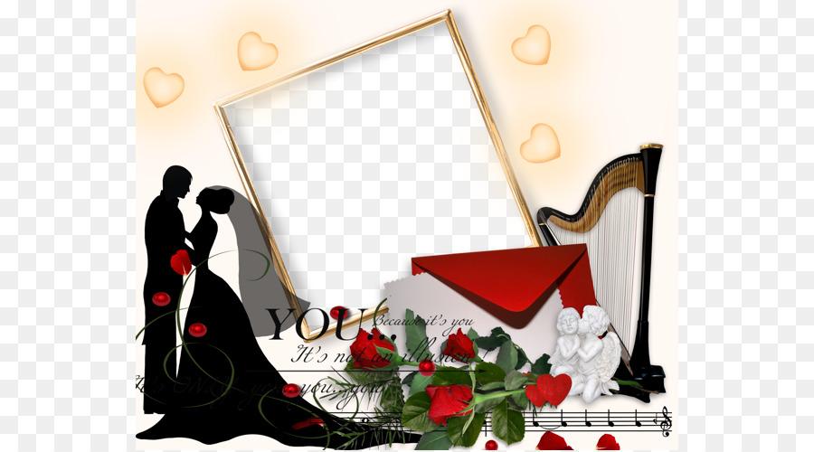 Wedding Romance Picture Frame Romantic Couples Wedding Album Png