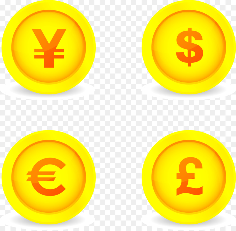 Coin Japanese Yen Currency Symbol Button Symbols Gold Png Download