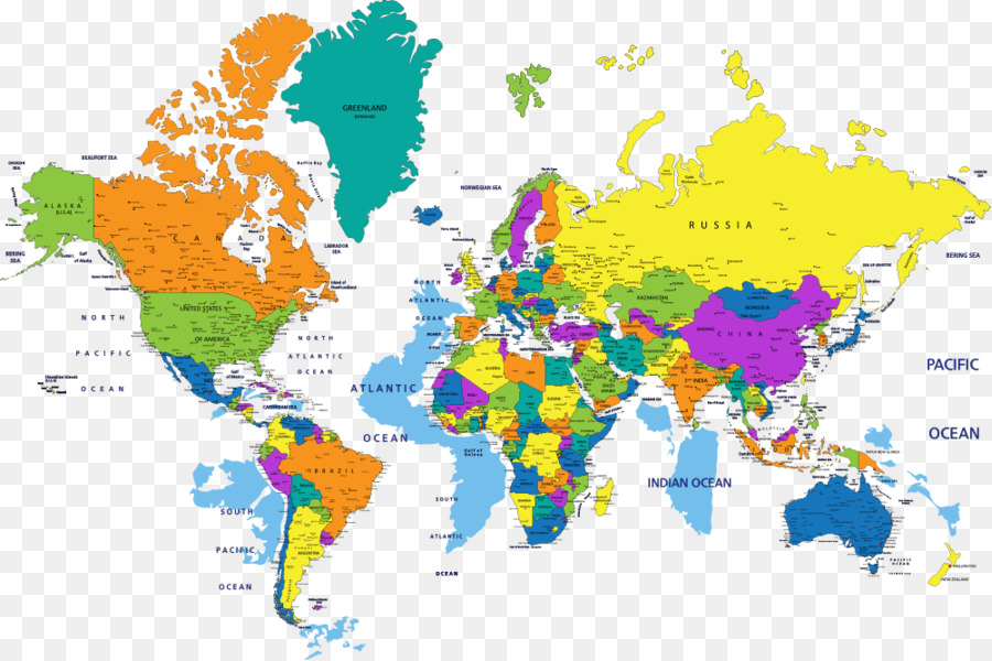 Globe world map vector color map png download 1000666 free globe world map vector color map gumiabroncs Images