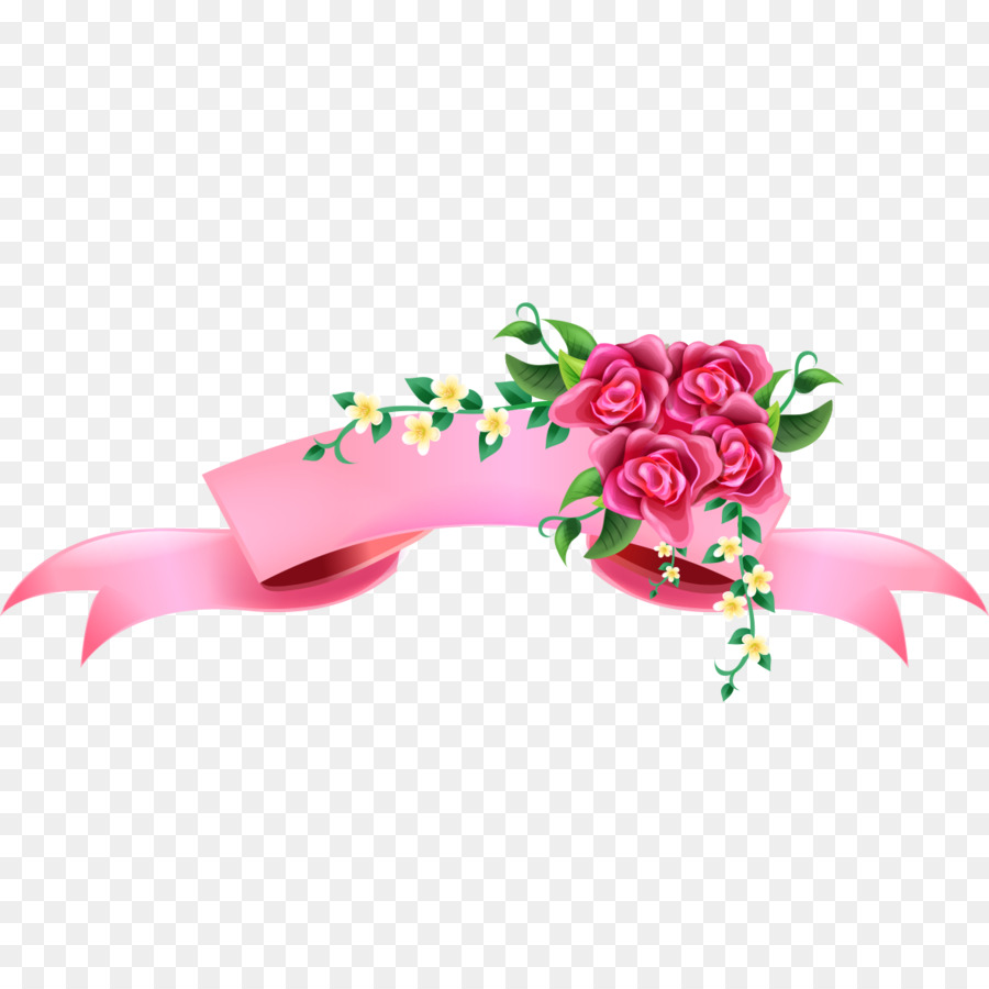 Pink ribbon illustration rose decorative banners png download pink ribbon illustration rose decorative banners mightylinksfo