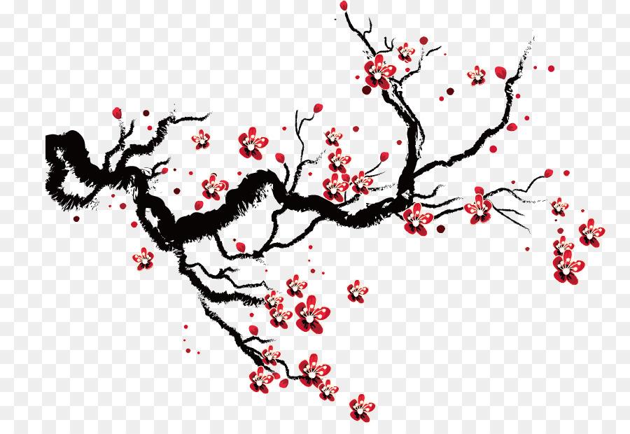 De los cerezos en flor de Dibujo - Plum flower Formatos De Archivo ...