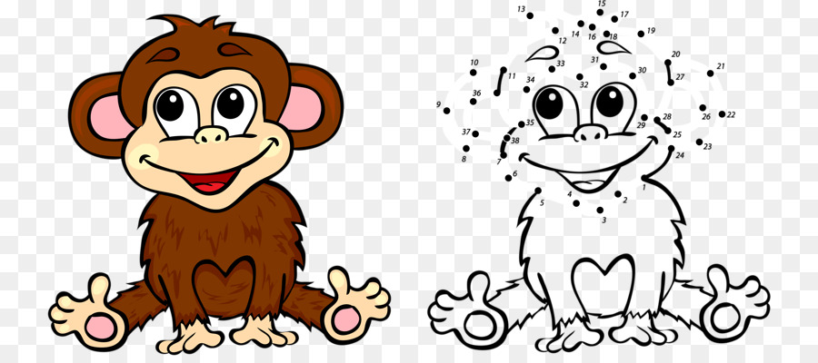 Mono de dibujos animados para Colorear la Ilustración de libros ...