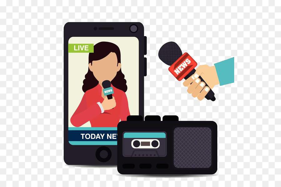 Zeichnen Tv Show Mobile Telefon Interview Programm Png