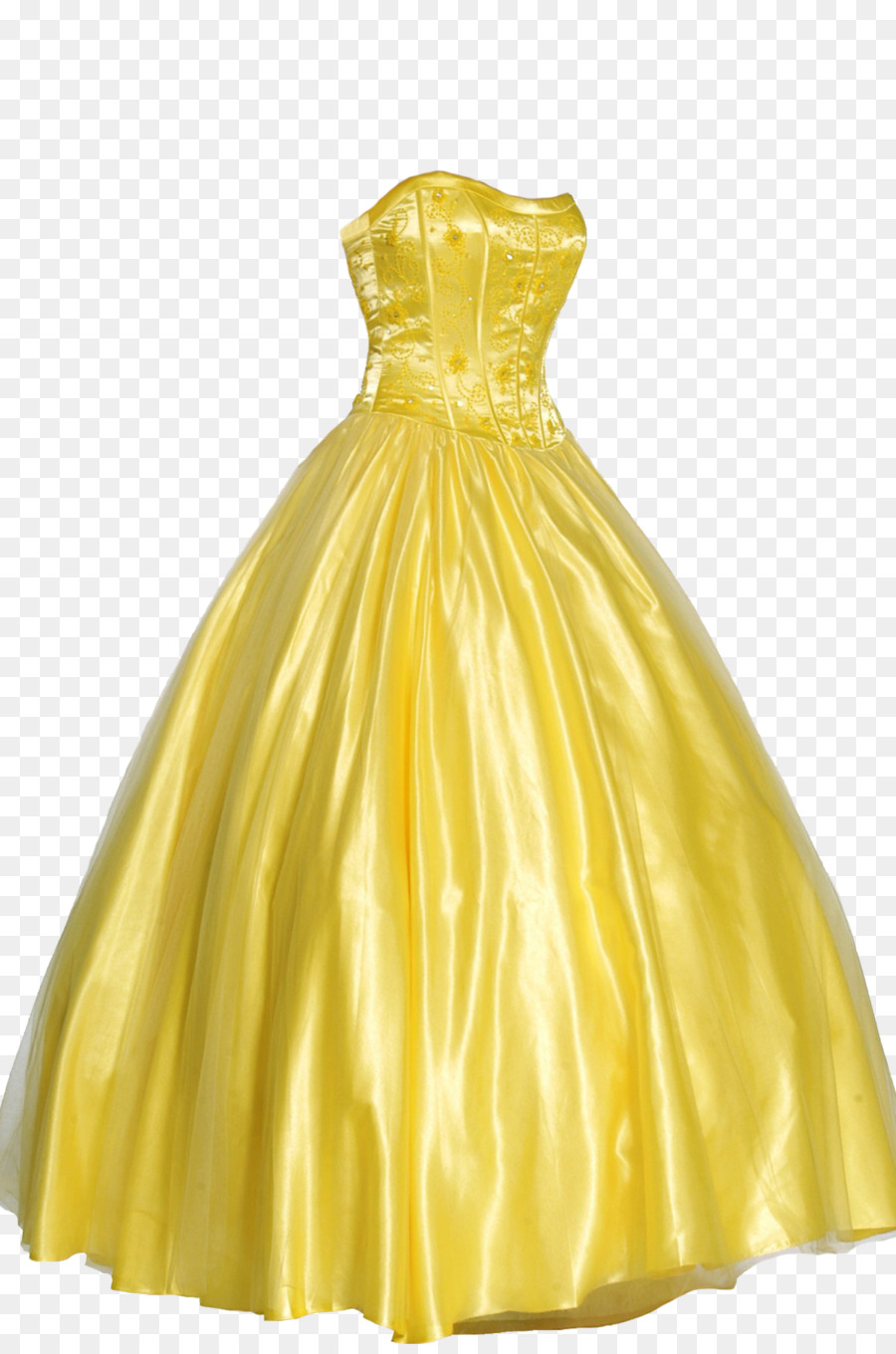 Dress Prom Formal wear Ball gown - Yellow evening dress png download ...