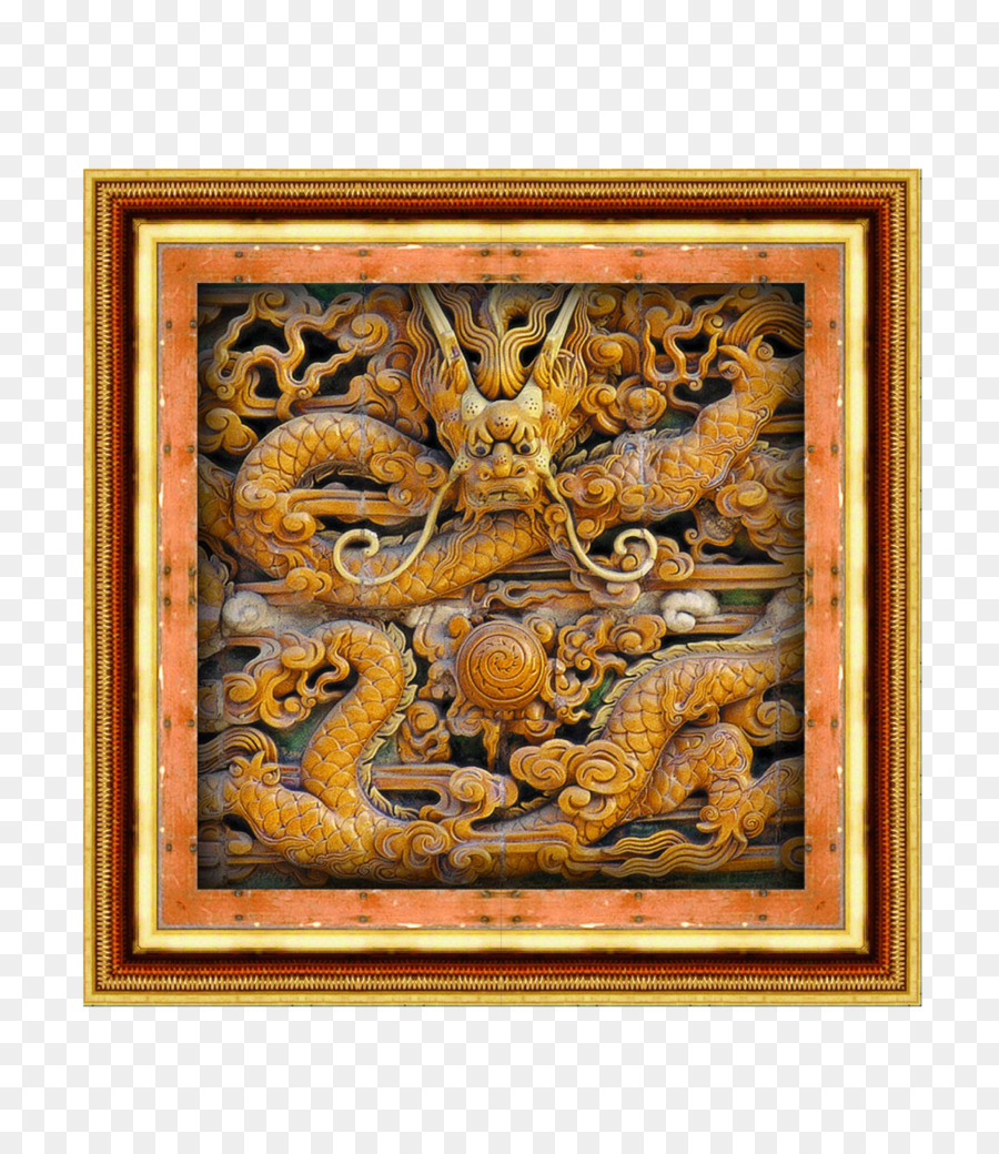 Picture frame Relief - Classical Dragon border relief png download ...