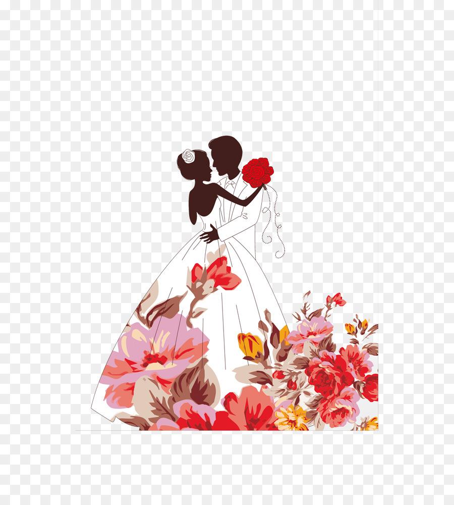 Floral Wedding Invitation Background Png Download 600 1000