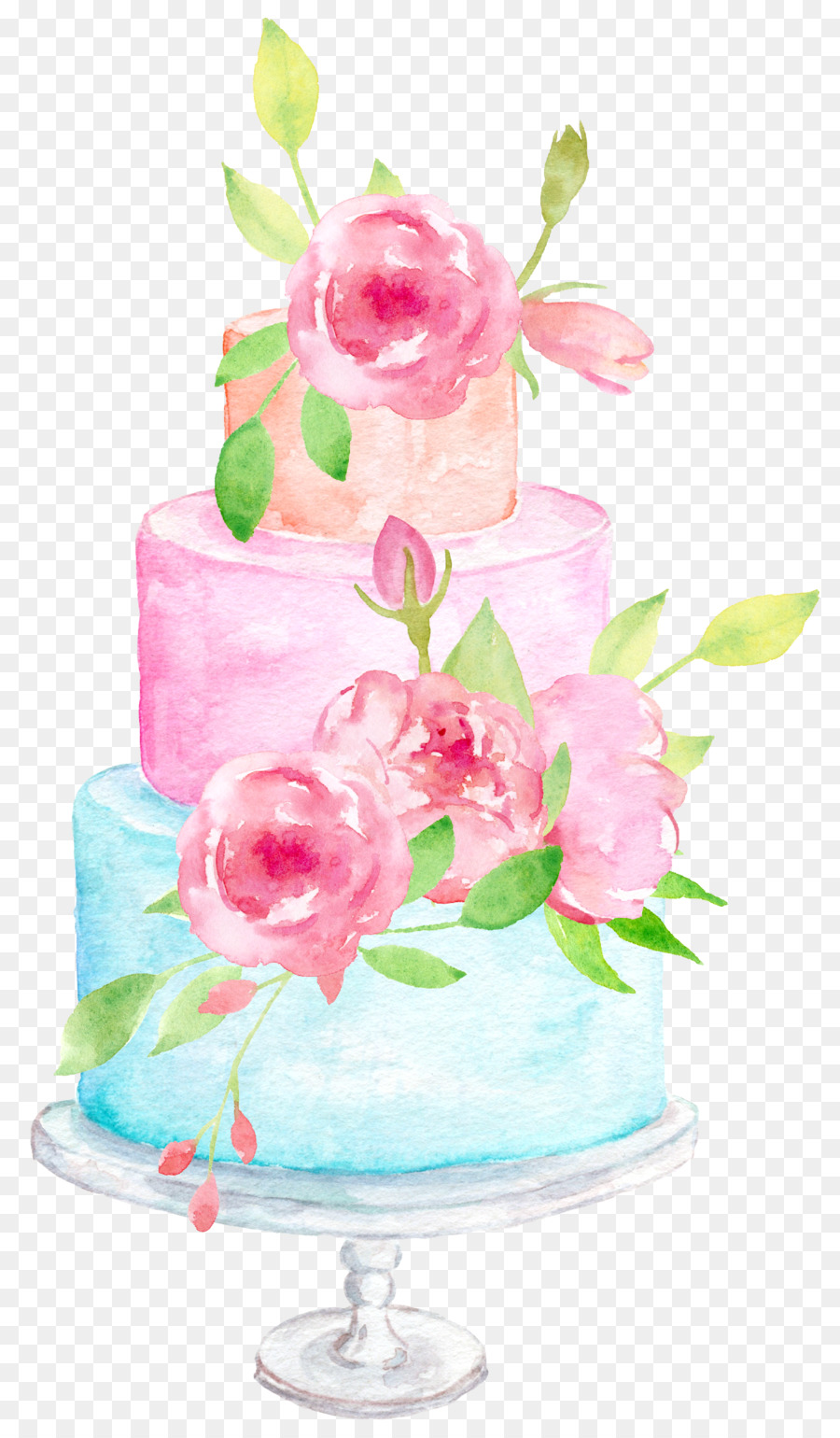 Wedding cake Wedding invitation Clip art - Flowers Gifts png ...