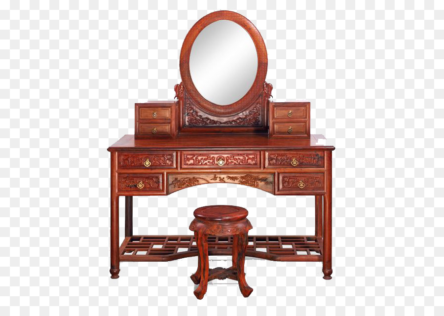 Furniture Antique Mirror Bedroom Achiote Vintage Wooden Dresser