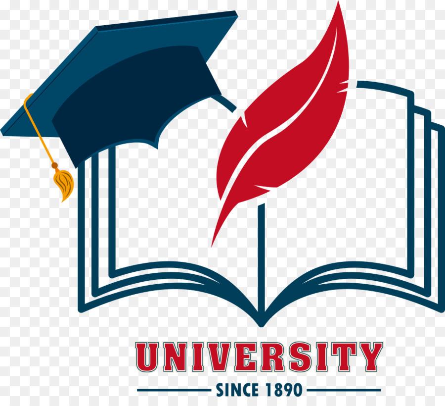 education logo graphic design school vector hat books png download