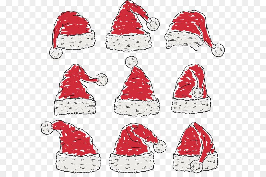 Santa Claus adorno de Navidad Sombrero de Color - Color de relleno ...