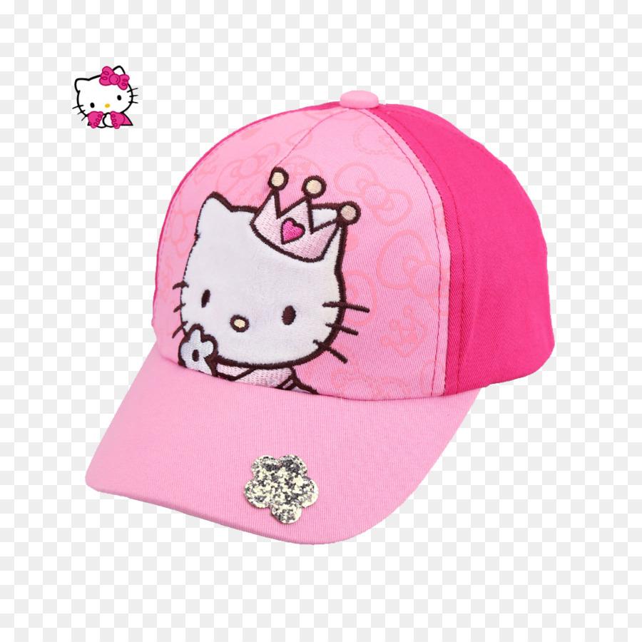 Hello Kitty Princess Cake Birthday Pink Baseball Cap PNG