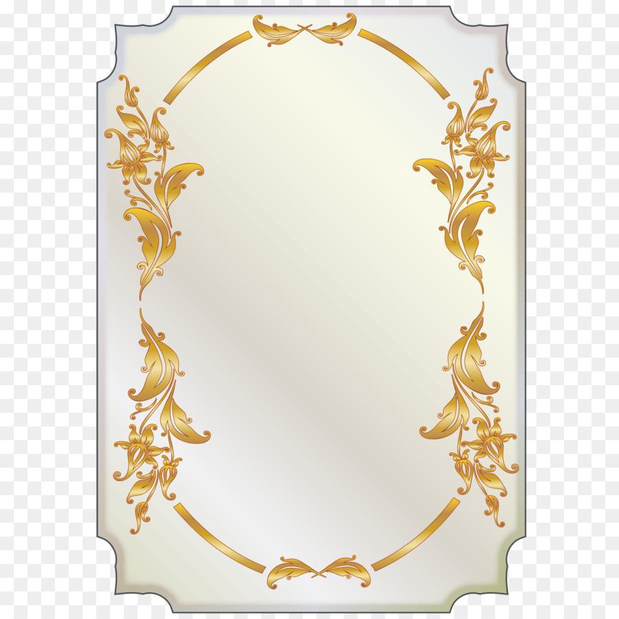 Picture frame Flower - Golden Flower card border png download - 1500 ...