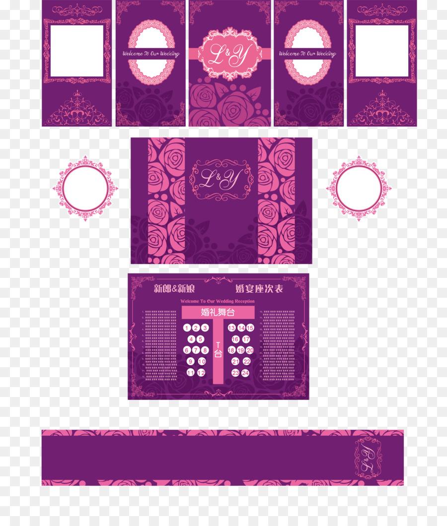 Púrpura De La Boda - Vector de estilo Europeo púrpura de la boda ...