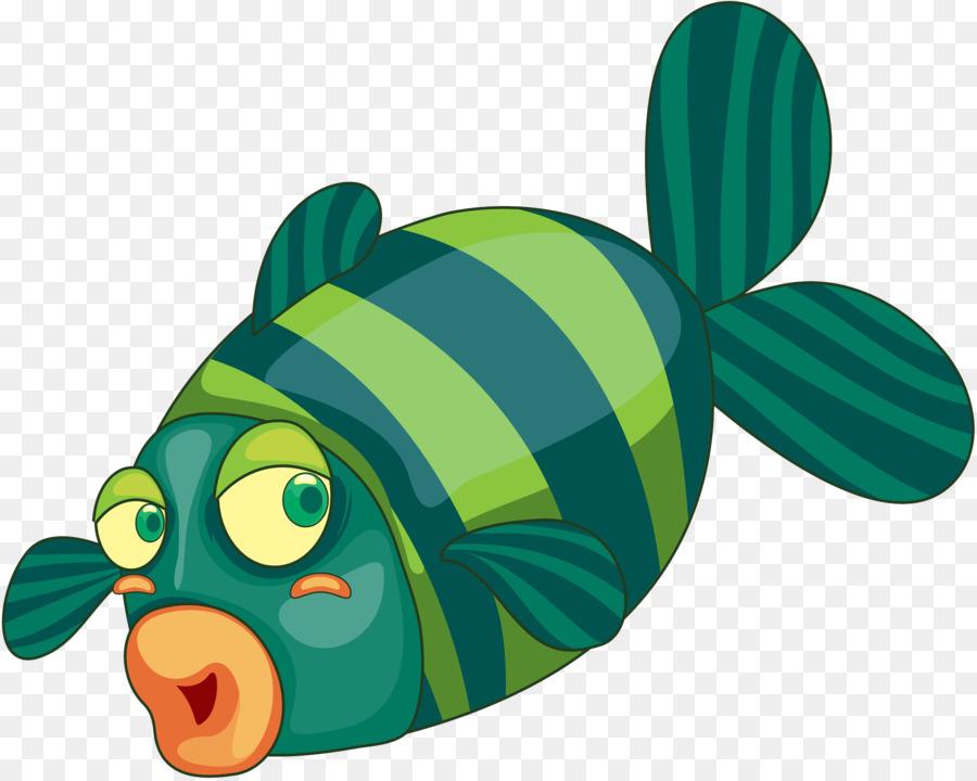 Dibujos Animados De Pescado Ilustración - Bandas de pescado Formatos ...