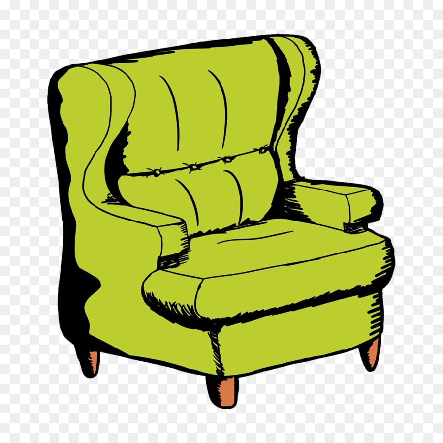 Couch Chair Cartoon Drawing Cartoon Hand Painted Sofa Png Download