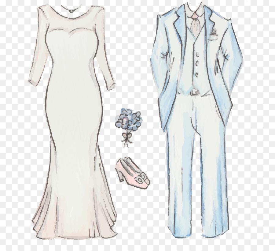 gown drawing dress bride traje de novio hand painted dresses shoes