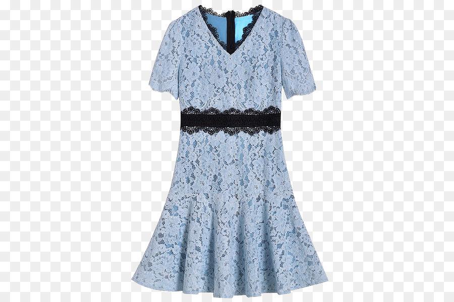 purchase cheap 2073b 6d5be Blaues Kleid-Spitze-Rock - V-Hals-blue lace Kleid png ...