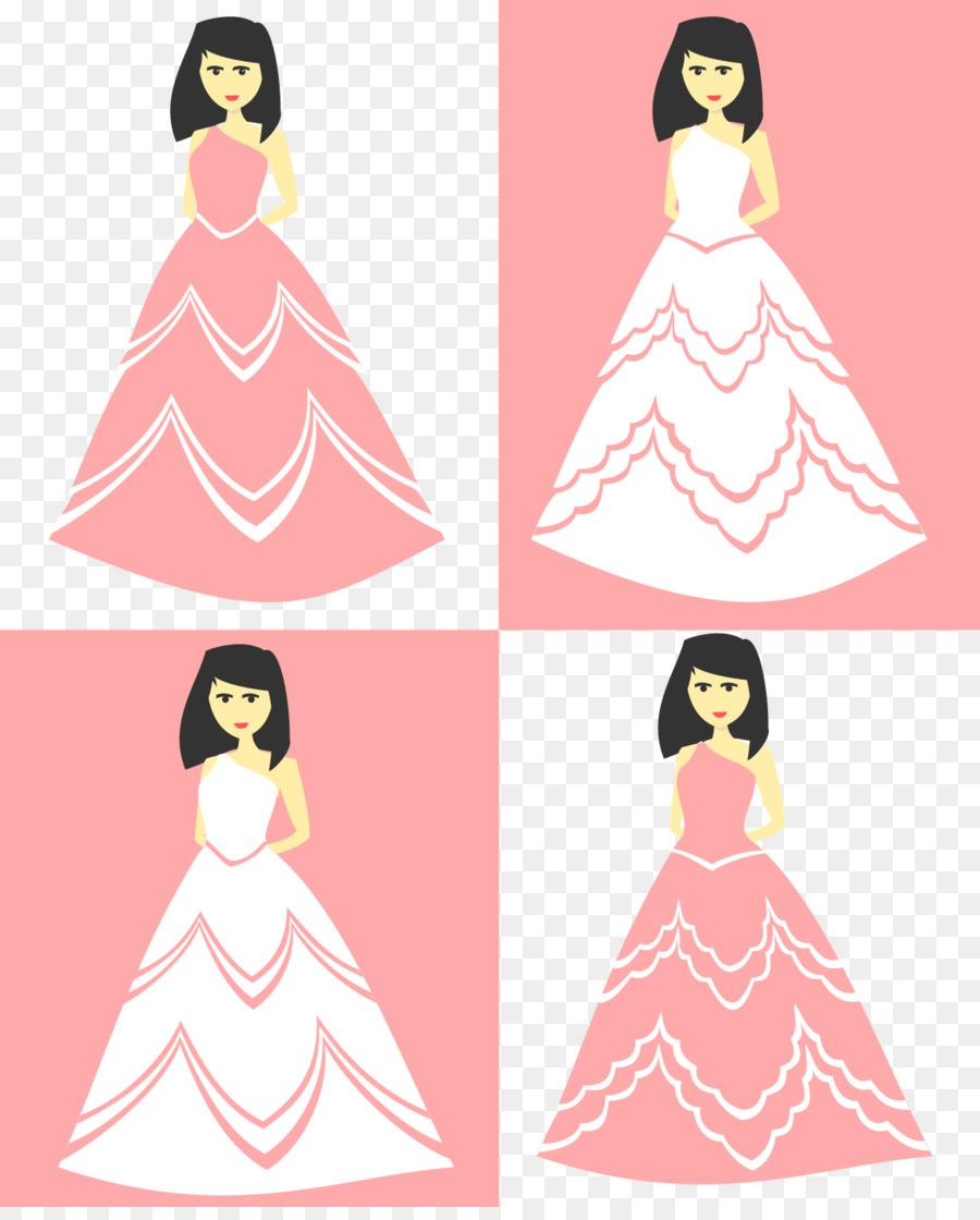 Vestido de fiesta de Clip art - Vector de la boda Formatos De ...