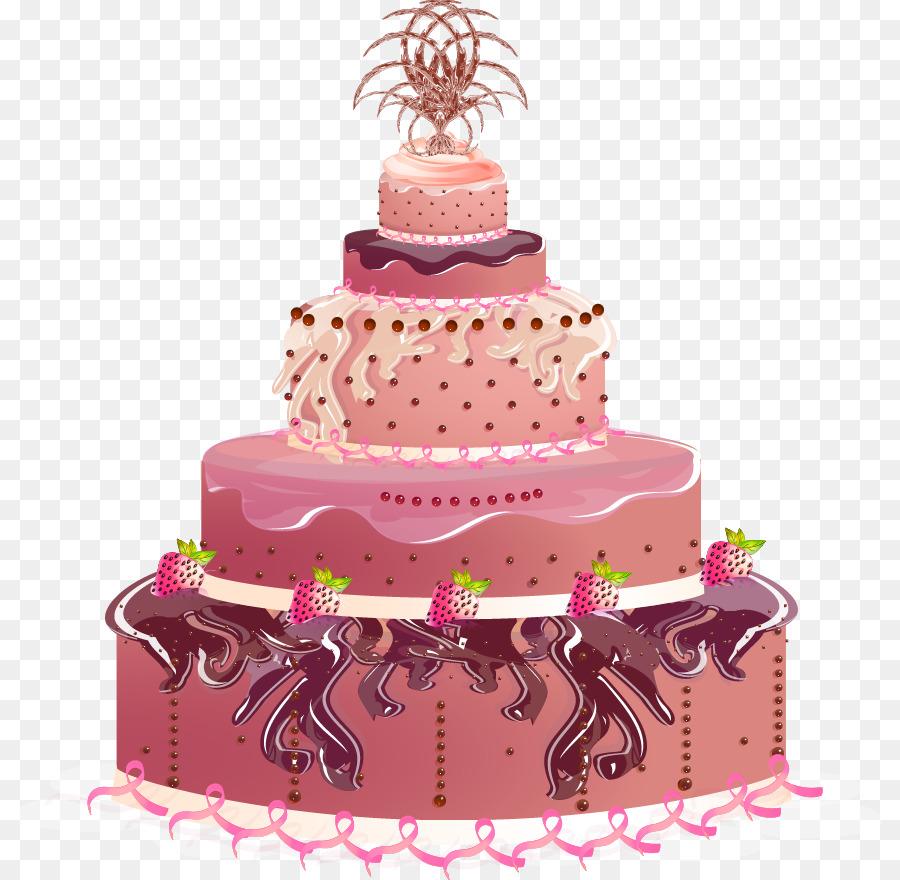 Birthday cake Wedding cake Torte - Vector cake png download - 865 ...