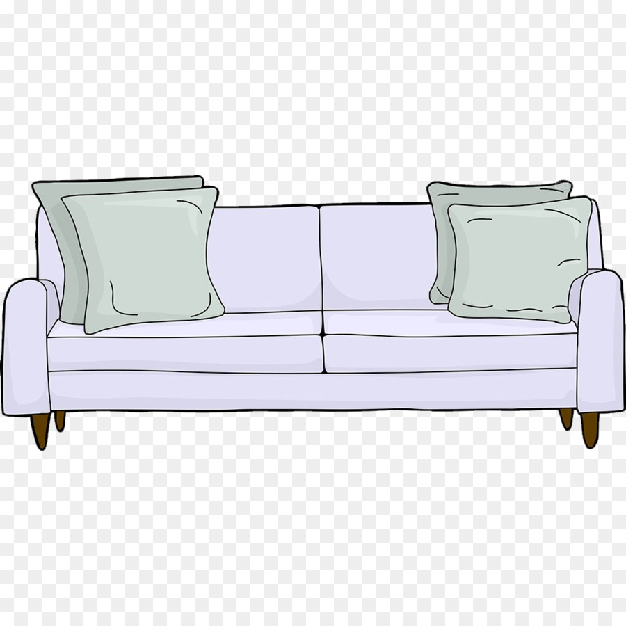 Couch Cartoon Hand Painted Sofa Png Download 1024 1024 Free