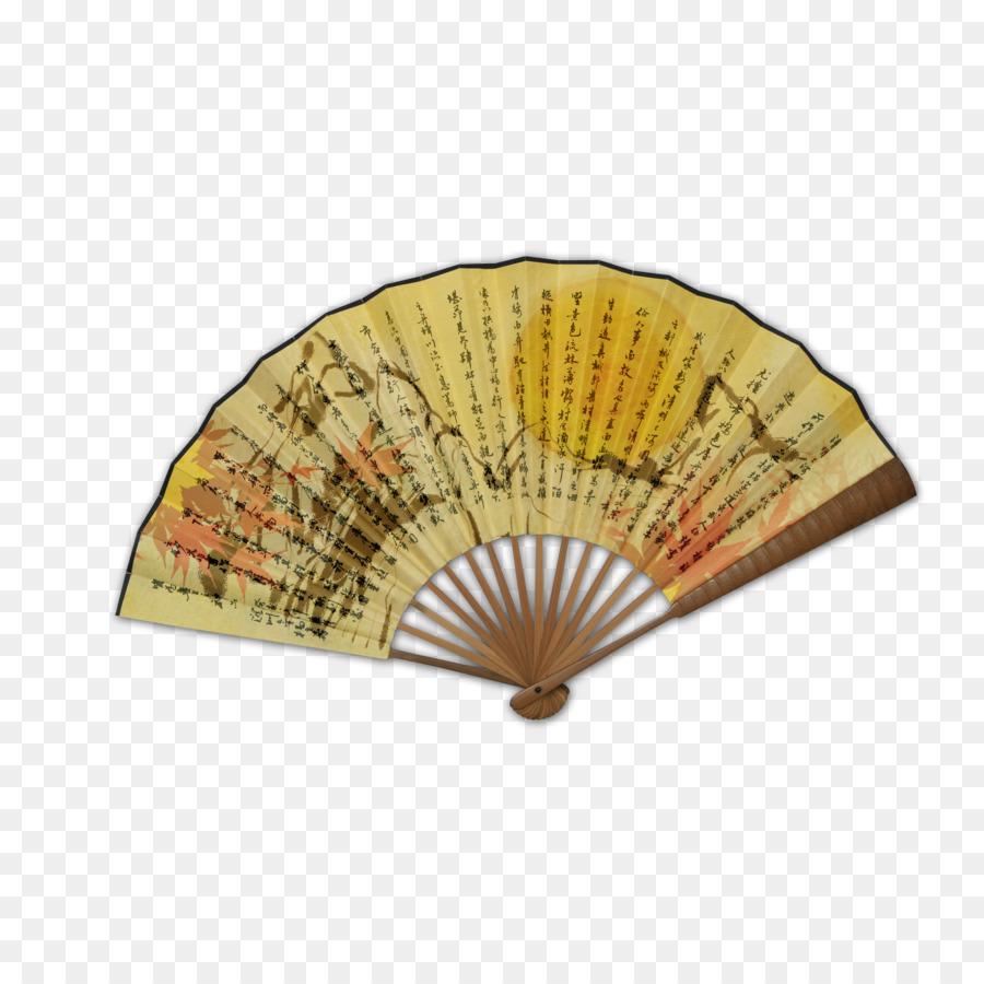 Cina Kertas Kipas Tangan Budaya Tionghoa Tinta Mencuci Lukisan Lipat Angin Kuno