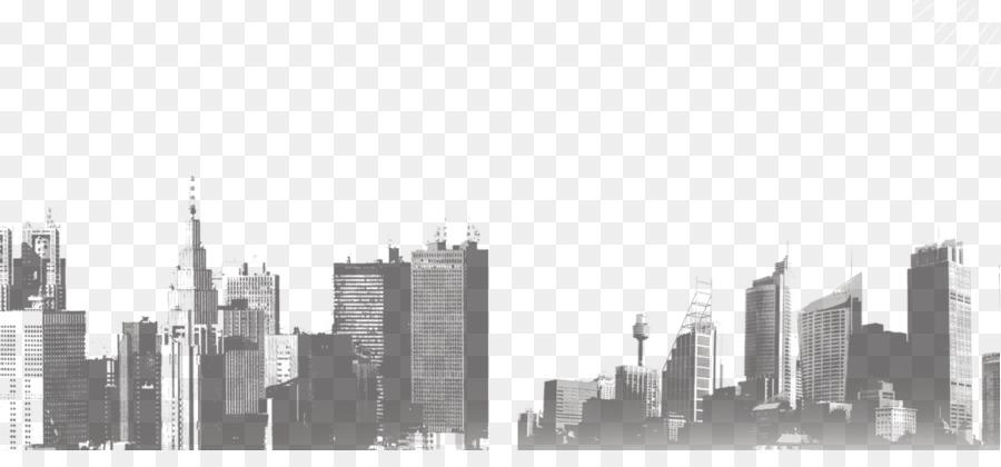 Black And White Skyline Skyscraper Building