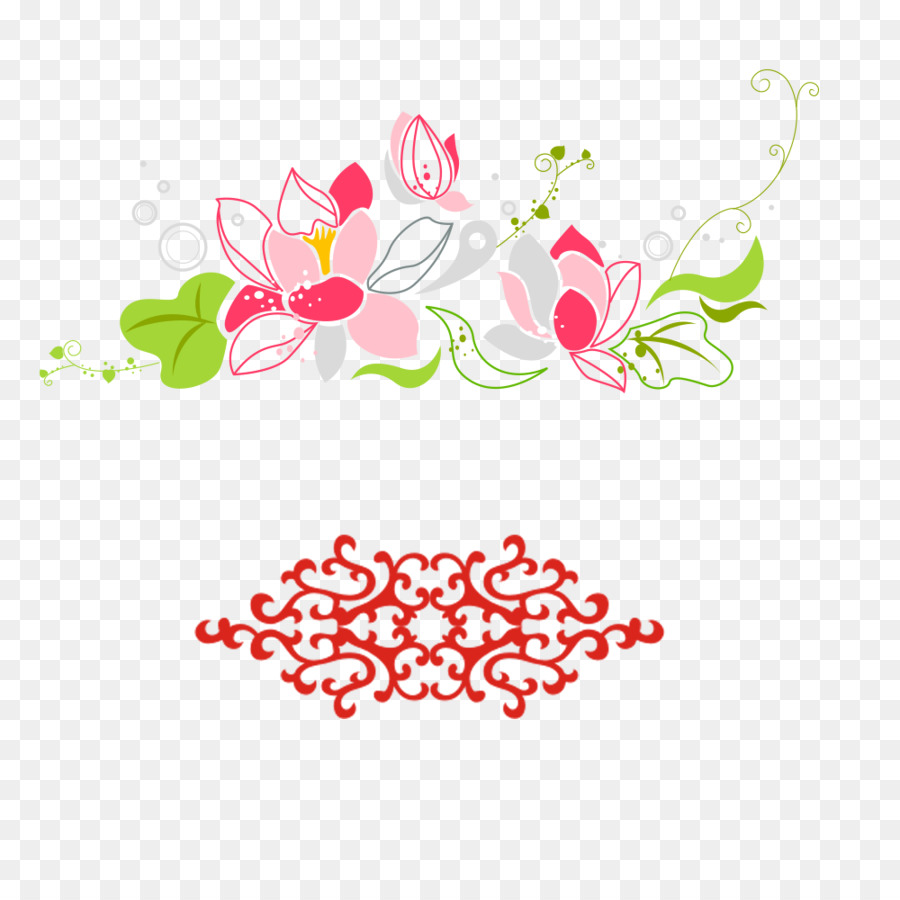 Watercolor Painting Motif Pattern A Lotus Design And Pattern Png