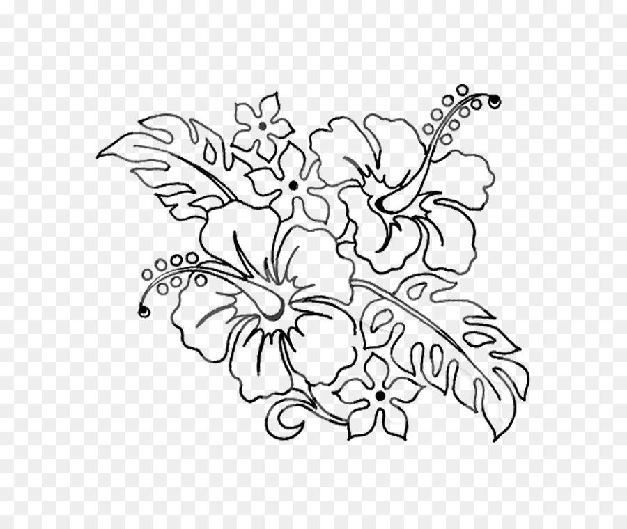 Fronteras decorativas Shoeblackplant Dibujo de la Flor de Clip art ...