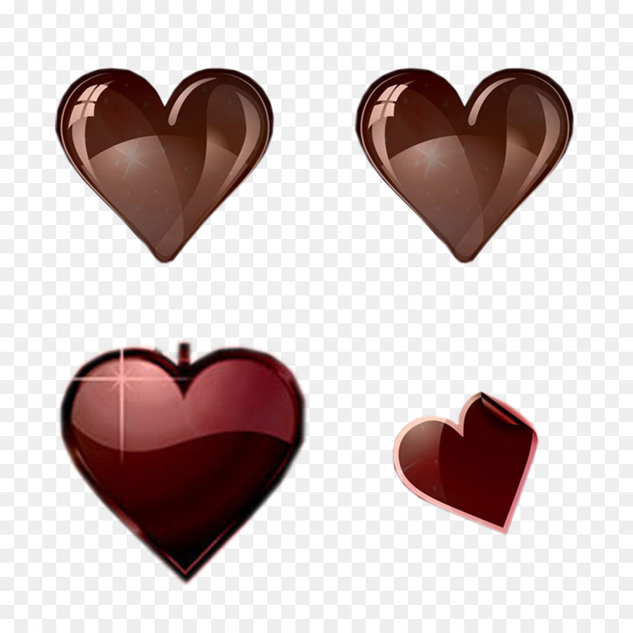 chocolate heart icon heart shaped chocolate color vector png
