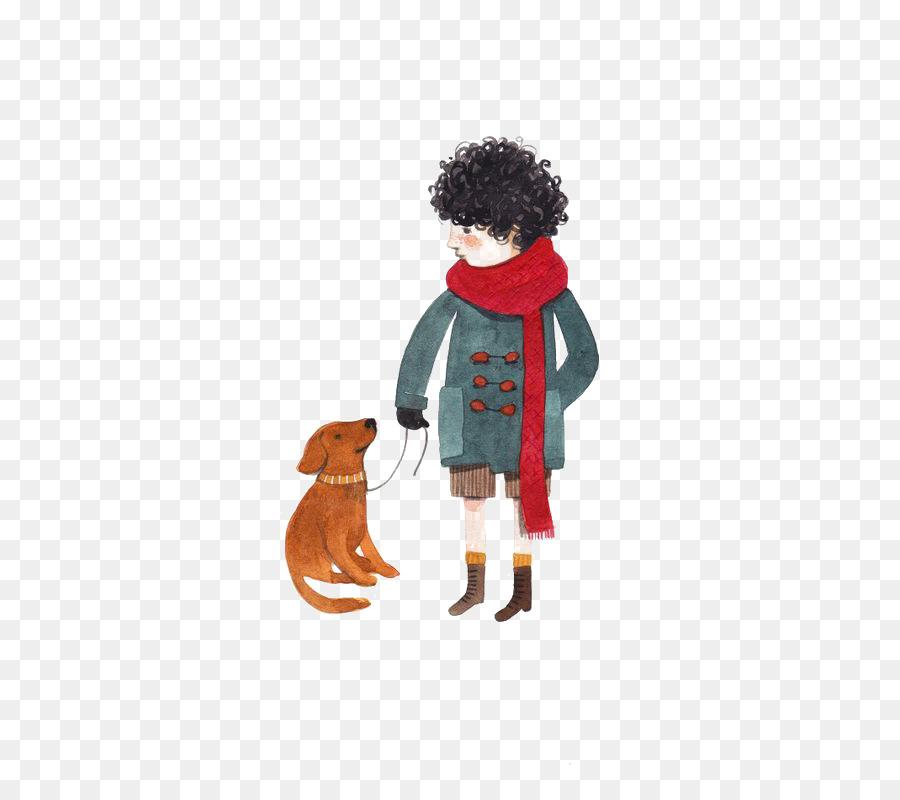 Perro Cachorro Ilustración Caminar Con El Perro Formatos De