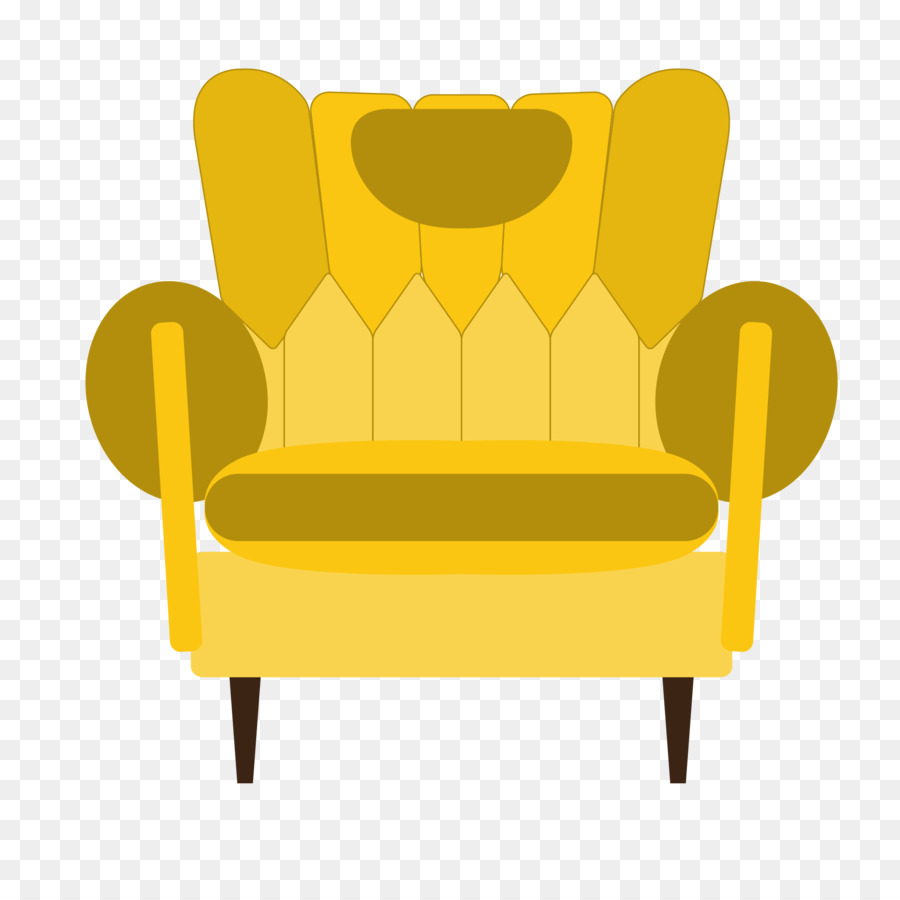 Chair Table Couch Furniture   Vector Yellow Sofa