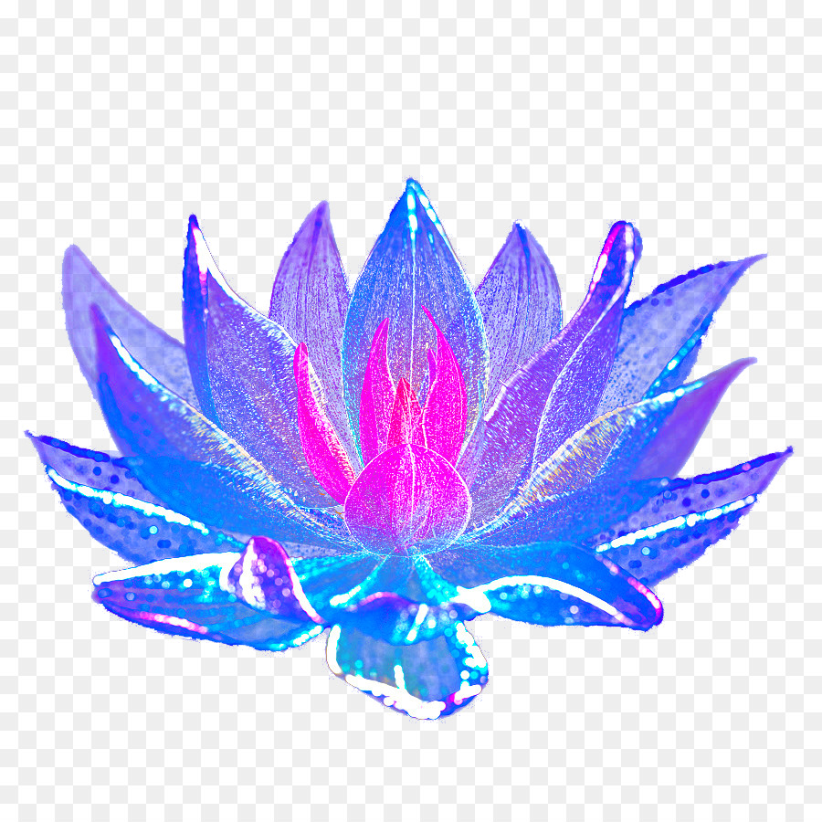 Blue Flower Hand Painted Light Effect Flower Effects Deduction Png