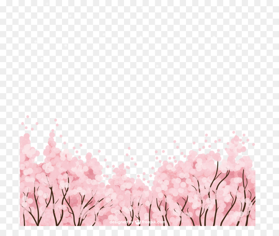 Cherry blossom Microsoft PowerPoint Template - Cherry tree shading ...