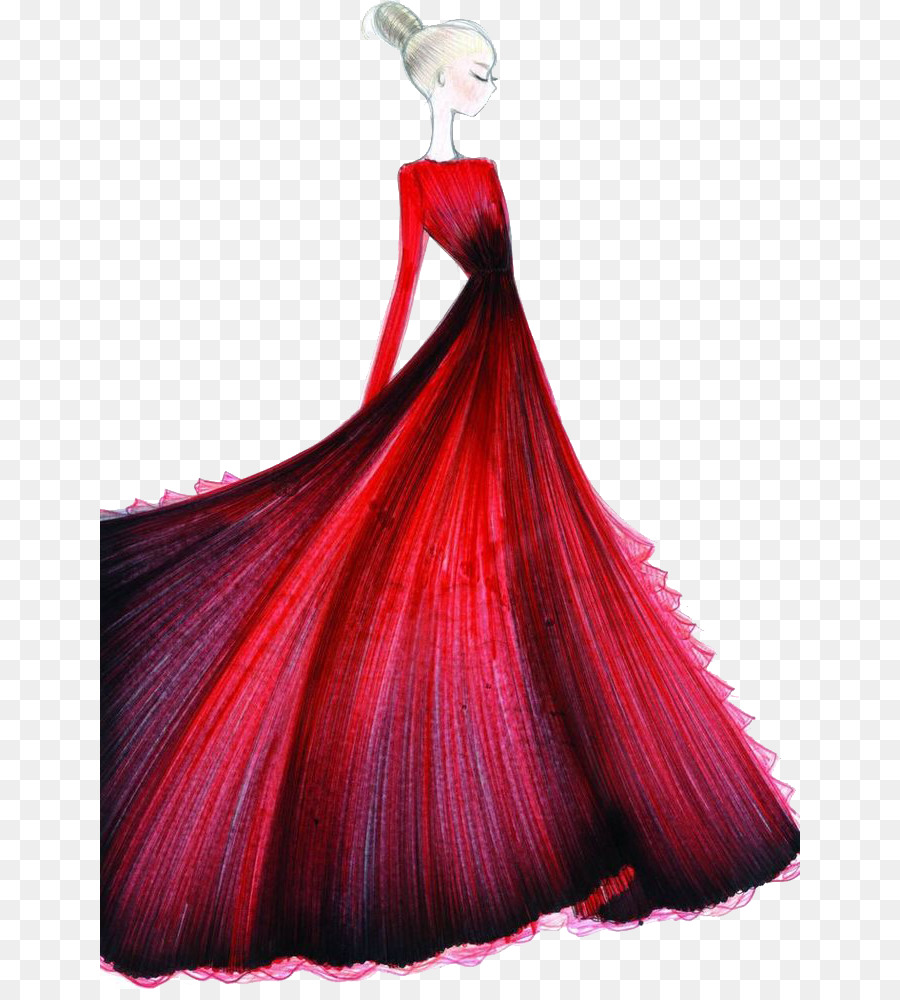 Fashion Illustration Fashion Design Drawing Sketch Beautiful Red