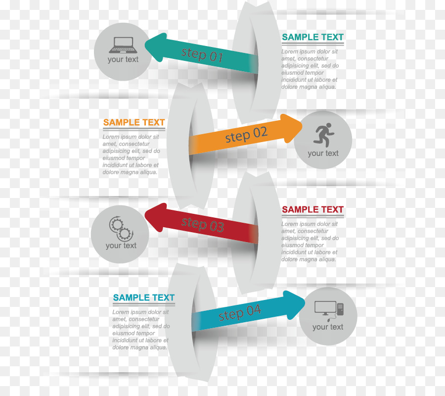 Flowchart Arrow Diagram Vector Arrow Step Flowchart Png Download
