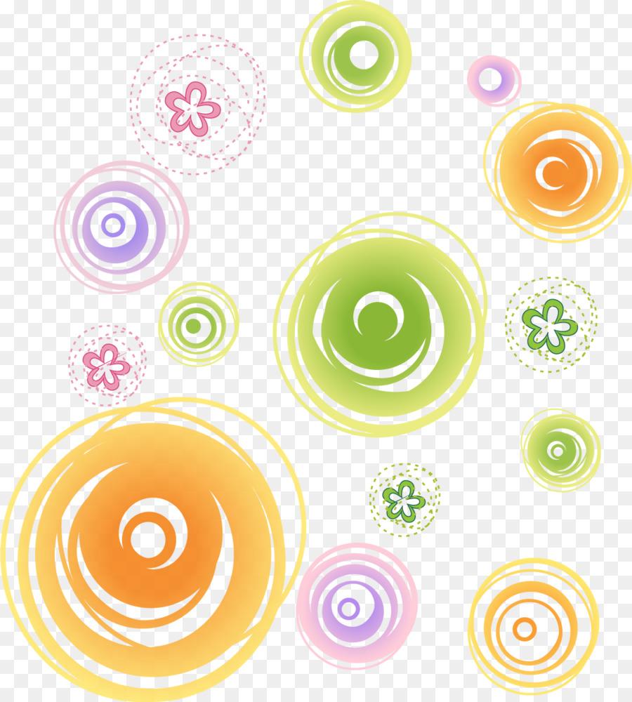 Circle Illustration Color Circle Decorative Flower Pattern Vector