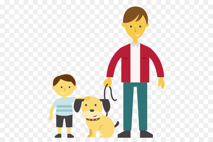 dog father clip art vector dog father and son png download 595