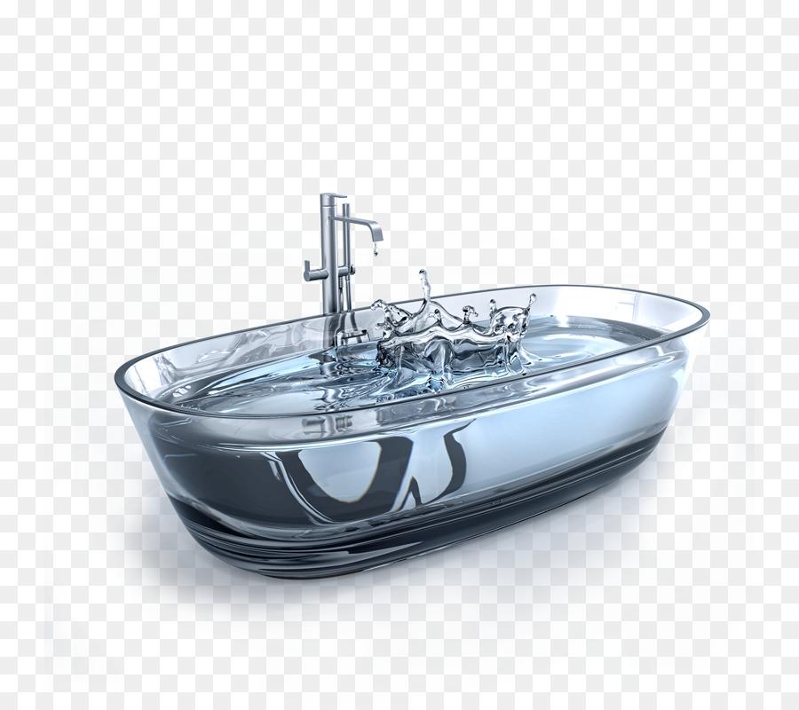 Bathtub Bathroom Shower Tap - water png download - 800*800 - Free ...