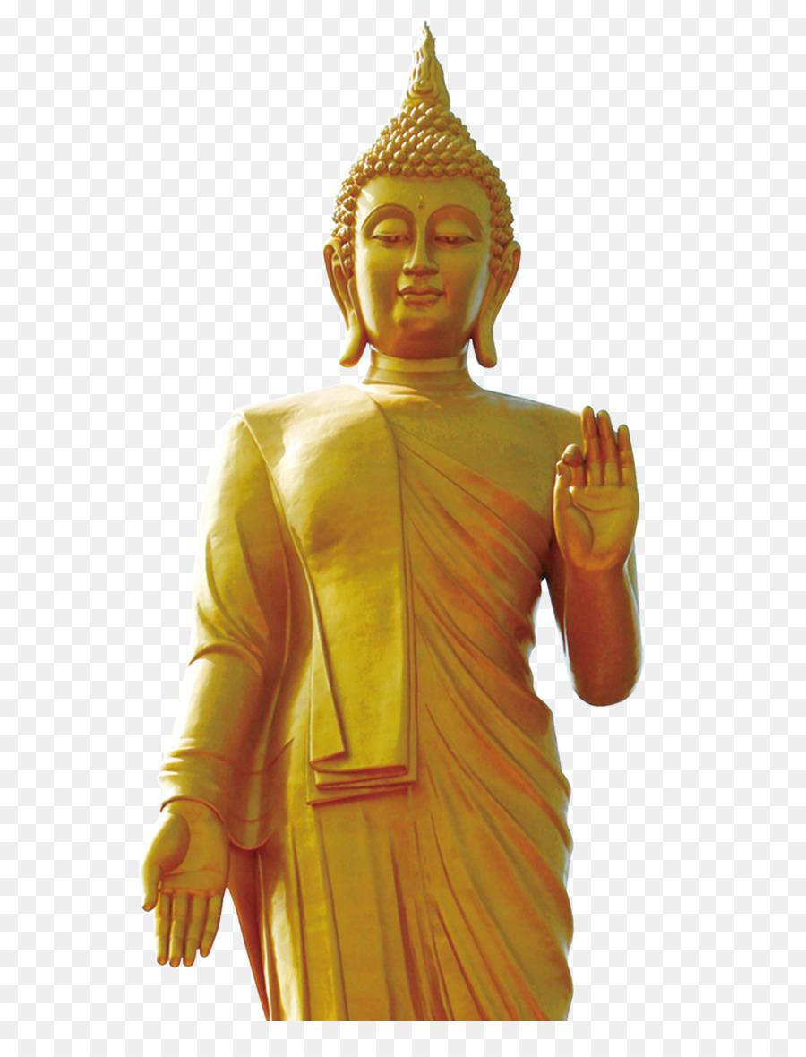thailand gautama buddha statue standing buddha yellow buddha
