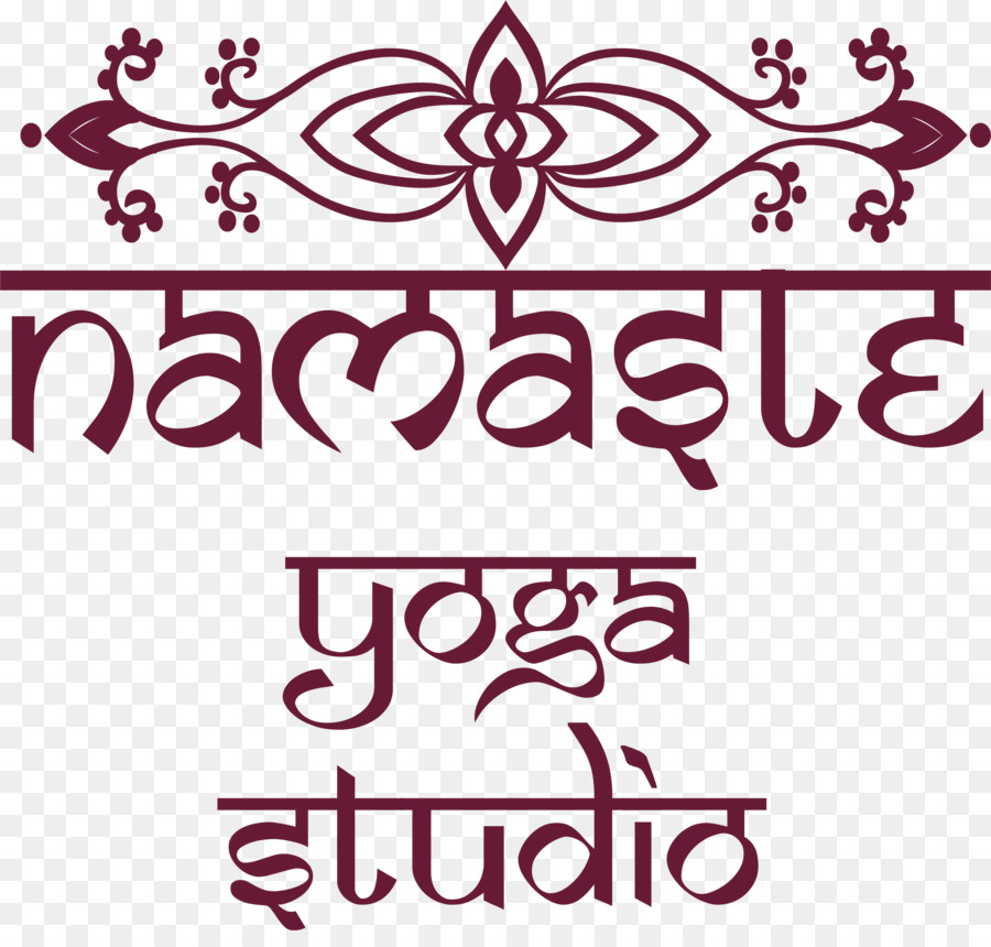 Namaste Wall Decal Sticker Stencil Wine Red Simple Flowers Png