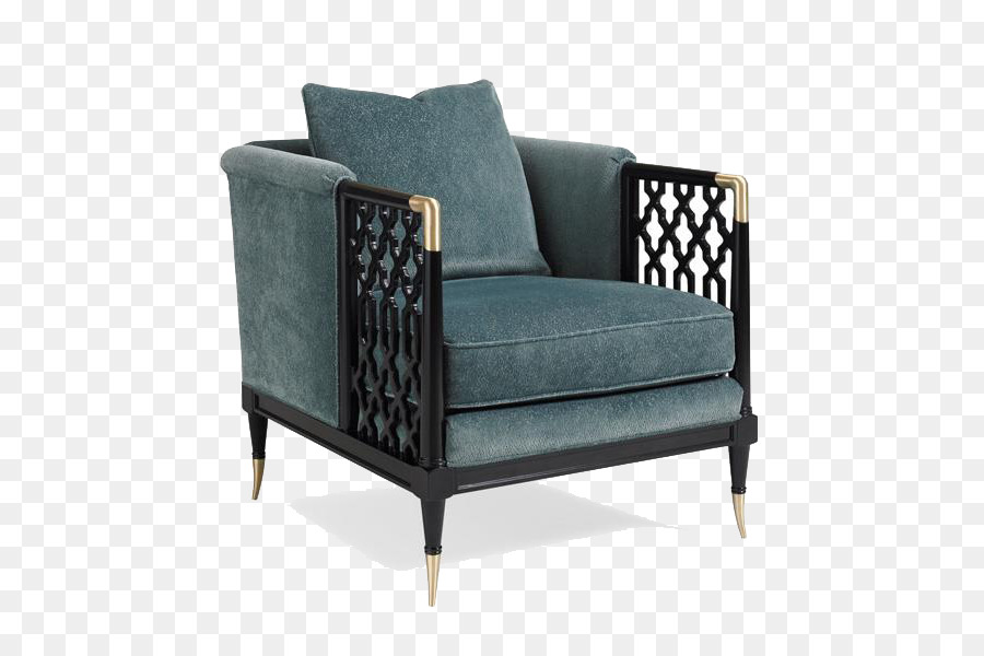 Chair Living Room Walter E. Smithe Cushion Couch   Dark Green Retro Chinese  Style Single Sofa
