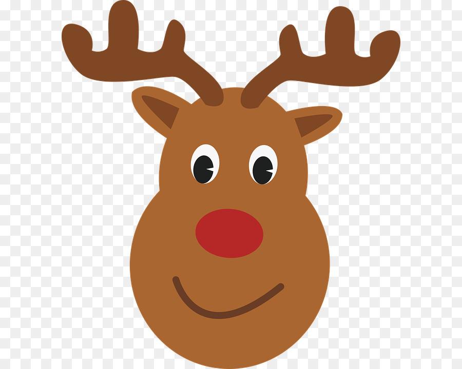 Rudolph Rentier Weihnachtsmann T-Shirt Weihnachten - Niedliche Elch ...